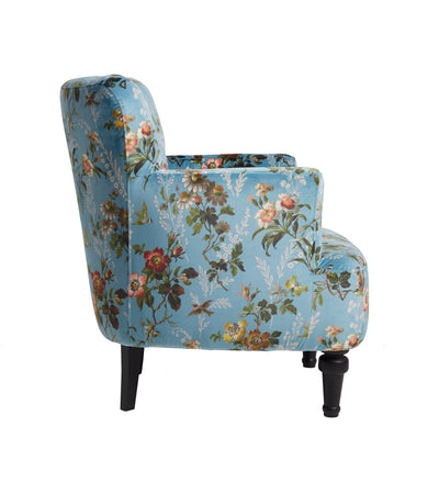 Oasis Dalston Leighton Blue Designer Accent Chair - Your 4 Walls