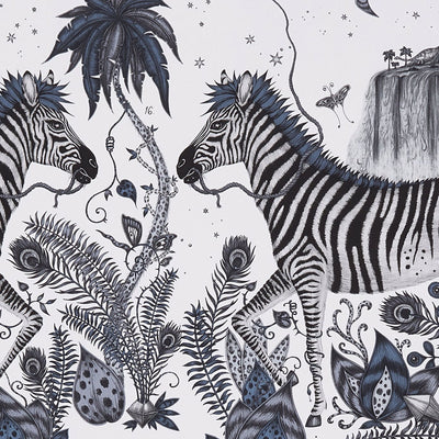 Lost World wallpaper by Designer Emma J Shipley Animalia | Blue - Your 4 Walls
