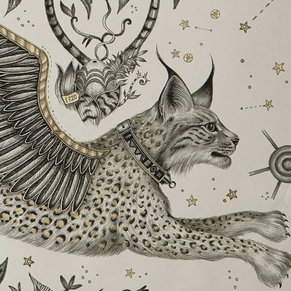 Lynx design wallpaper by Designer Emma J Shipley Wilderie | Gilver - Your 4 Walls