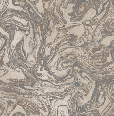Metallic Marble Effect Wallpaper | Brown & Bronze - Your 4 Walls