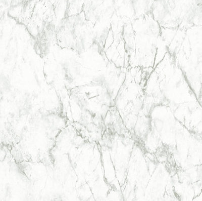 Textured Marble Effect Wallpaper | Light Grey & White