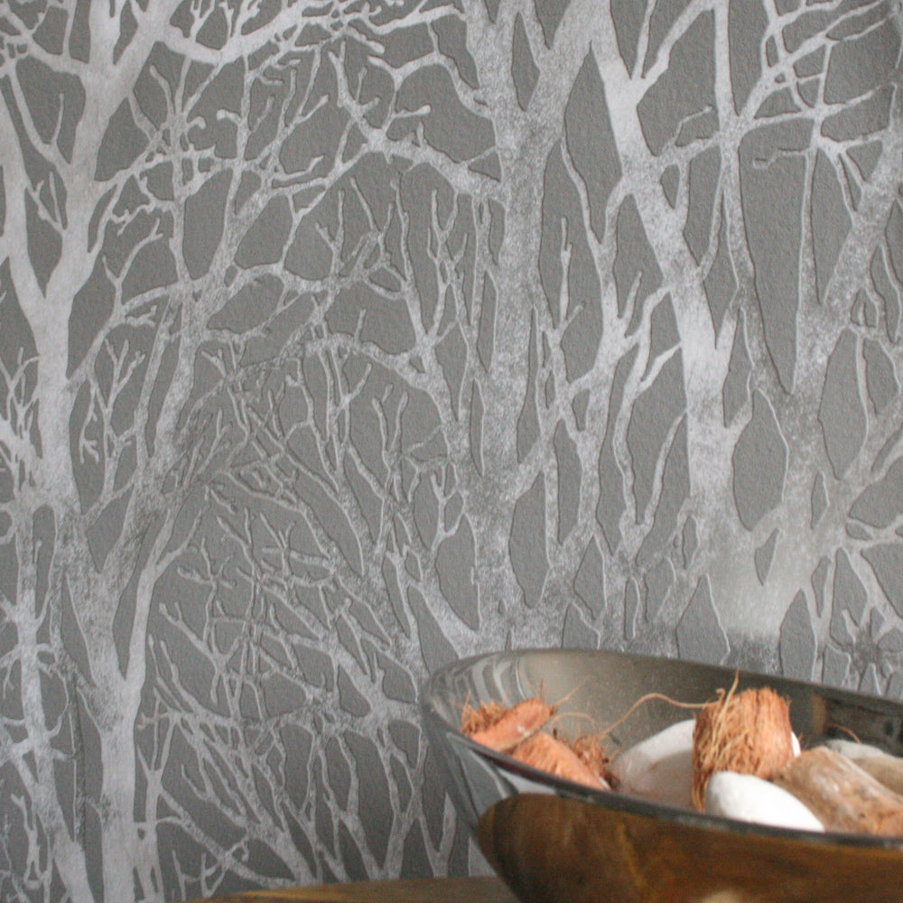 Metallic Grove | Grey & Silver Metallics - Your 4 Walls