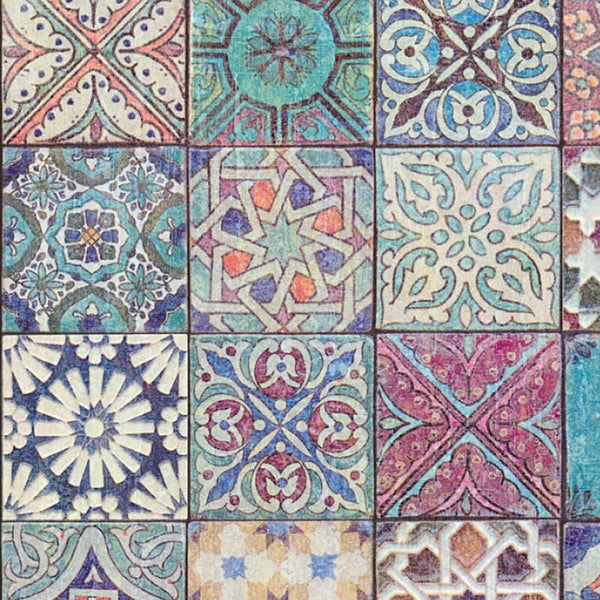 Moroccan Croatian Style Tile Effect Wallpaper