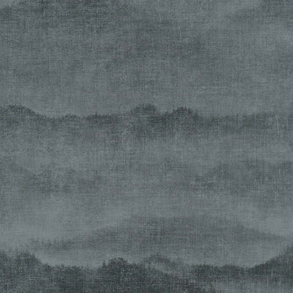 Mountain Range Canvas Effect Wallpaper | Black & Grey - Your 4 Walls