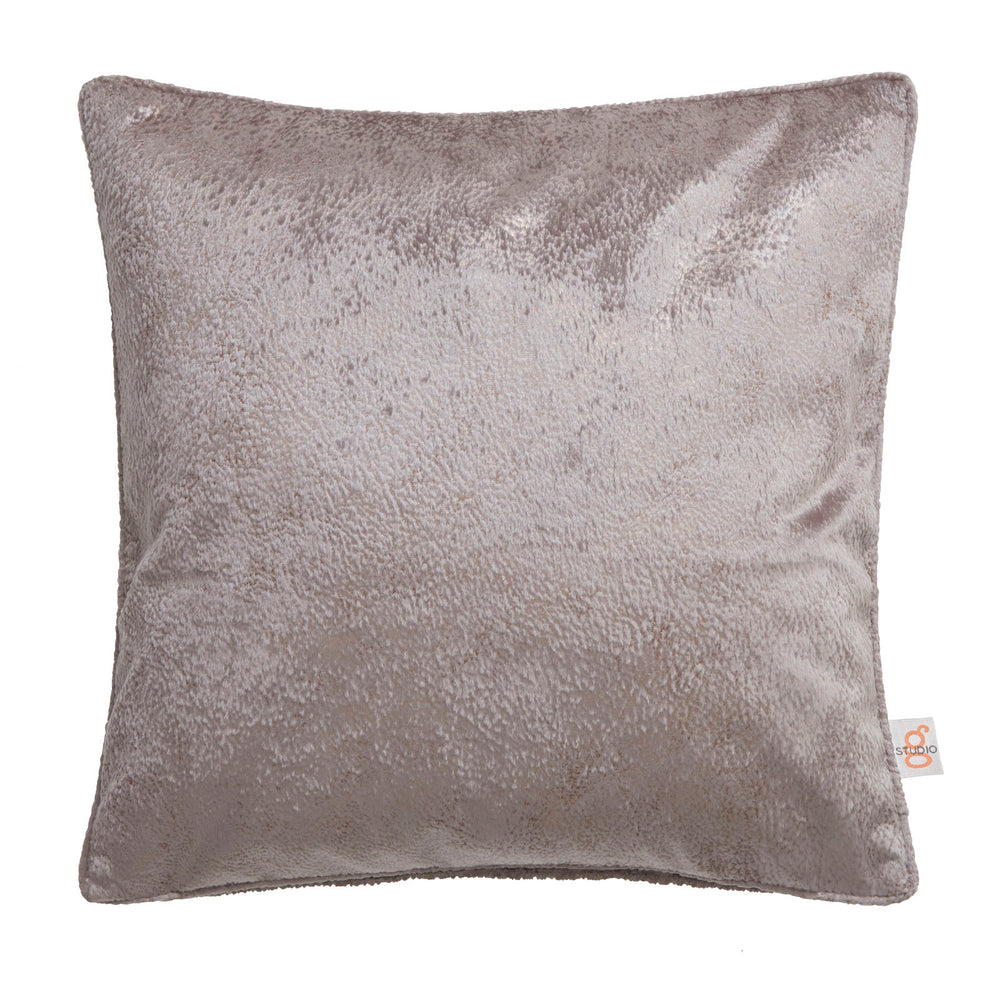 Clarke & Clarke Designer 'Navara' Cushion | Mink Textured Velvet - Your 4 Walls