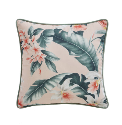 Oasis Designer 'Delray' Palm Cushion | White, Blush Pink, Coral & Blue - Your 4 Walls
