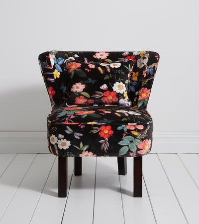Oasis Monika Ava Black Designer Accent Chair - Your 4 Walls