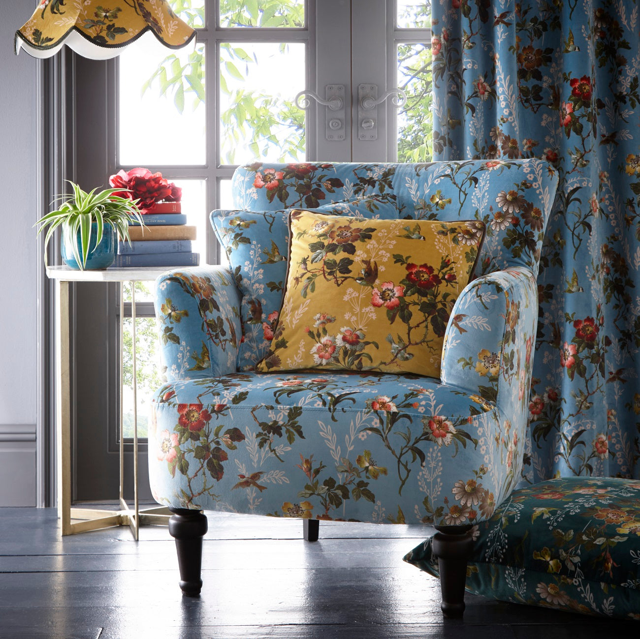 Oasis Dalston Leighton Blue Designer Accent Chair ...