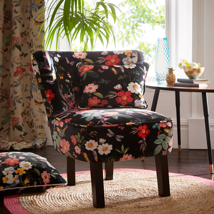 Oasis Monika Ava Black Designer Accent Chair