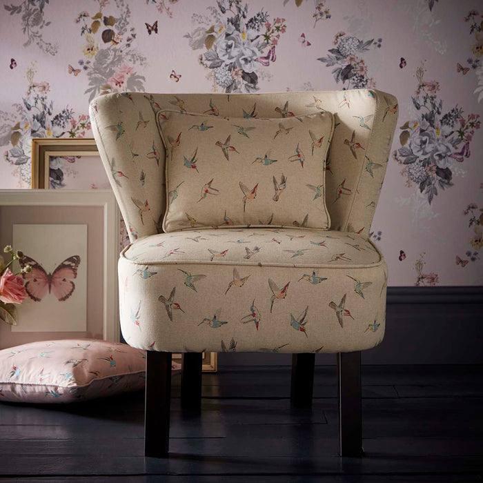 Oasis Monika Hummingbird Natural Linen Designer Accent Chair
