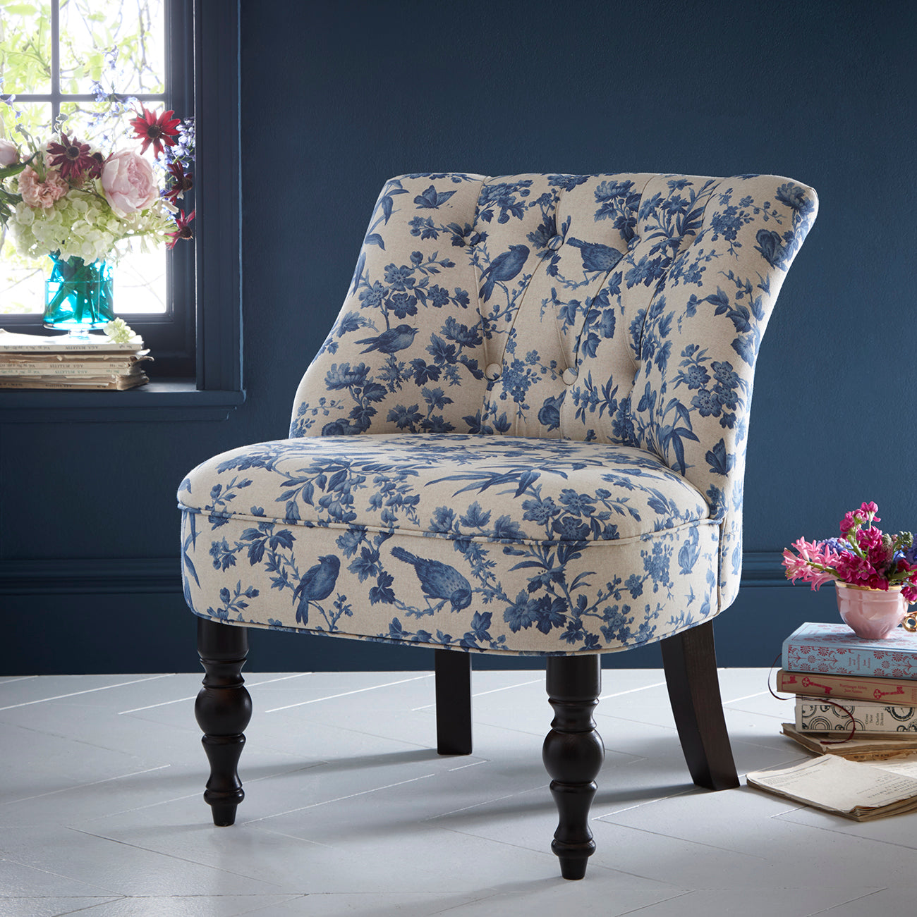 Oasis Odette Amelia Blue Designer Accent Chair