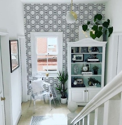 Octagon Contemporary Geometric Wallpaper | Black & White