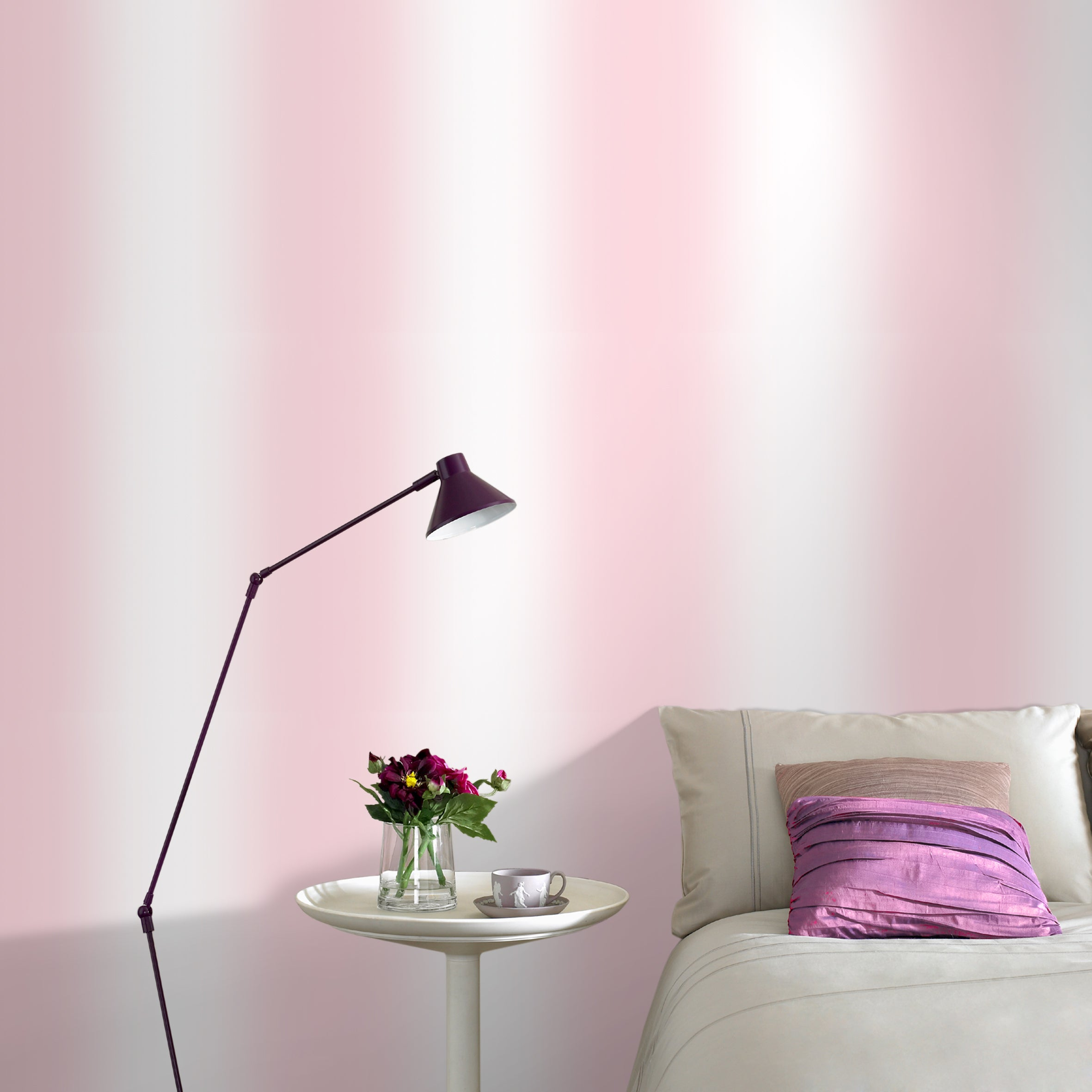 SALE Ombre Effect Wallpaper| Pink & White shades ONLY 1 LEFT