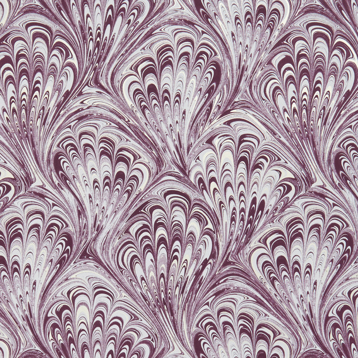 Pavone Peacock Inspired Designer Wallpaper  | Motif in Amethyst Purple & Gold/Gold