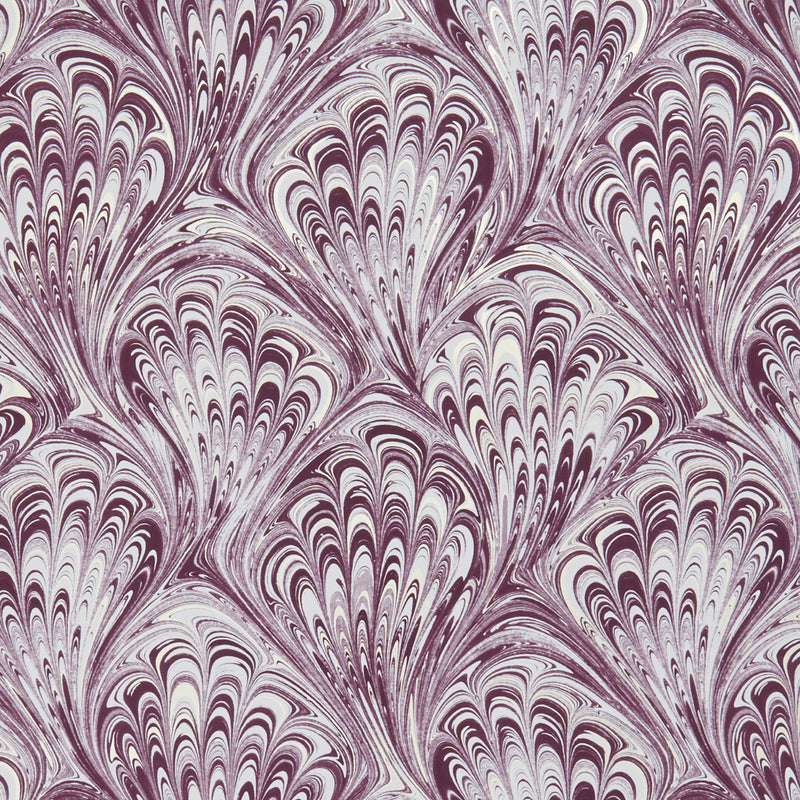Pavone Peacock Inspired Designer Wallpaper  | Motif in Amethyst Purple & Gold/Gold - Your 4 Walls