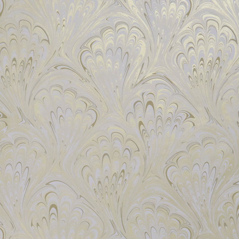 Pavone Peacock Inspired Designer Wallpaper  | Motif in Ivory & Gold - Your 4 Walls