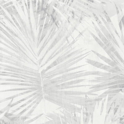 'Jungle Palm' Leaf Wallpaper in Beige, White & Grey - Your 4 Walls
