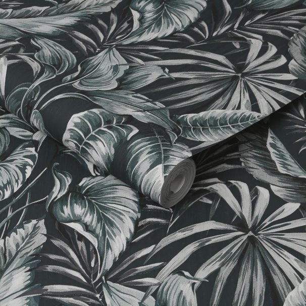 Banana and Palm Leaf Design Wallpaper in Green - Your 4 Walls