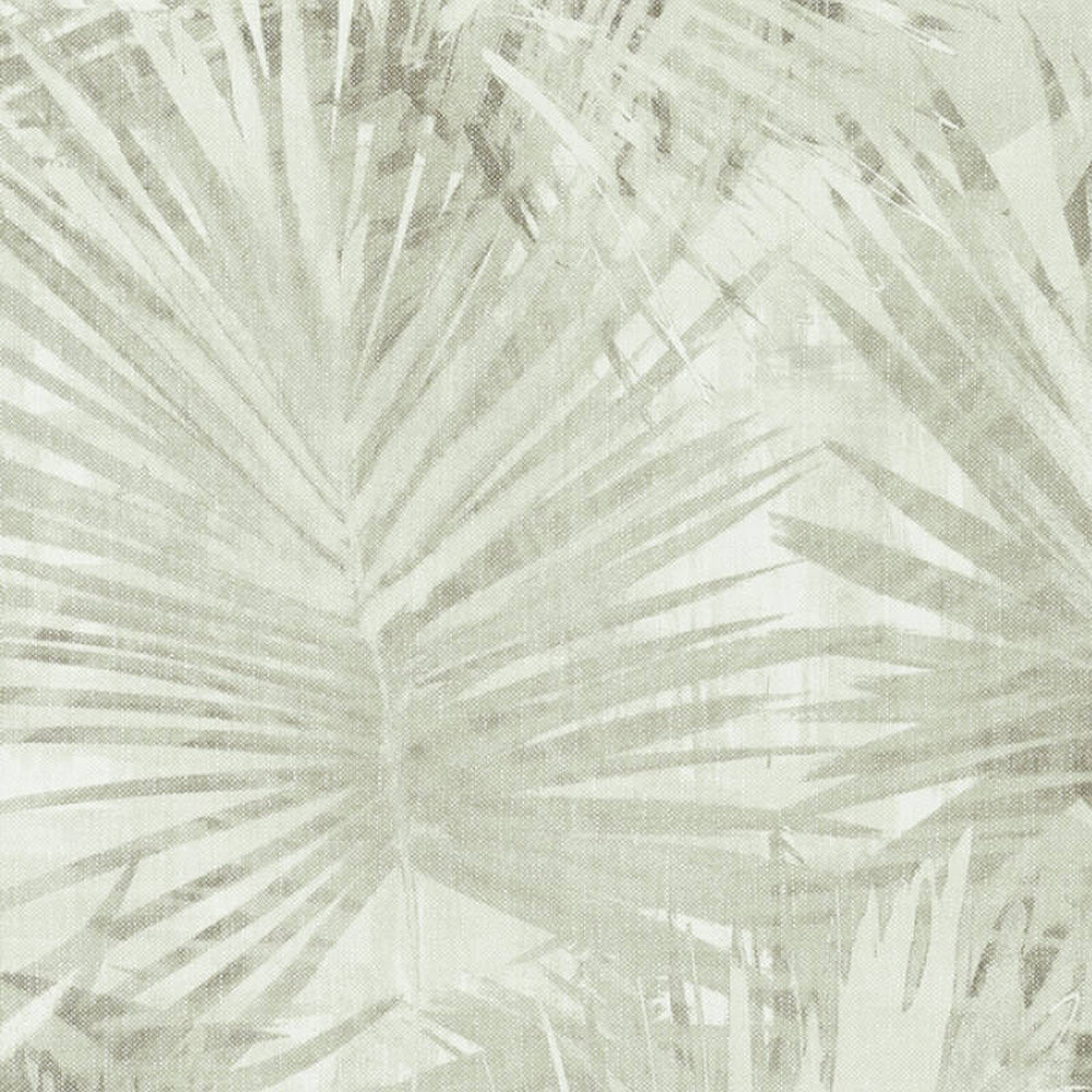 'Jungle Palm' Leaf Wallpaper in Cream & Green - Your 4 Walls