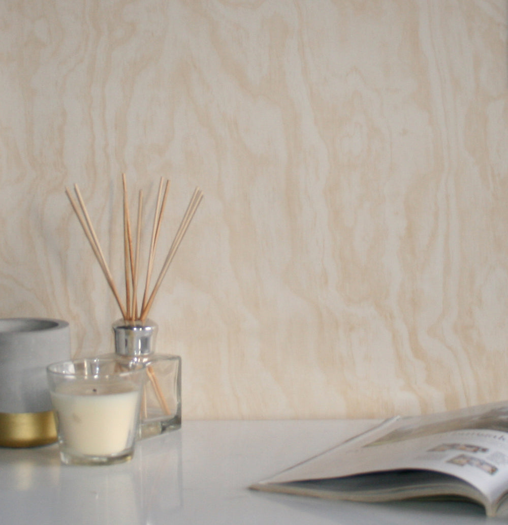 Large Patterned Internal Plywood Realistic Wood Effect Wallpaper | Beige (3 x rolls for £25) - Your 4 Walls