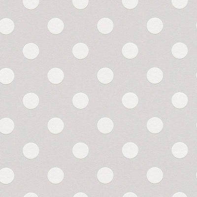 Textured Small Polka Dots/Spots Wallpaper Grey & White - Your 4 Walls