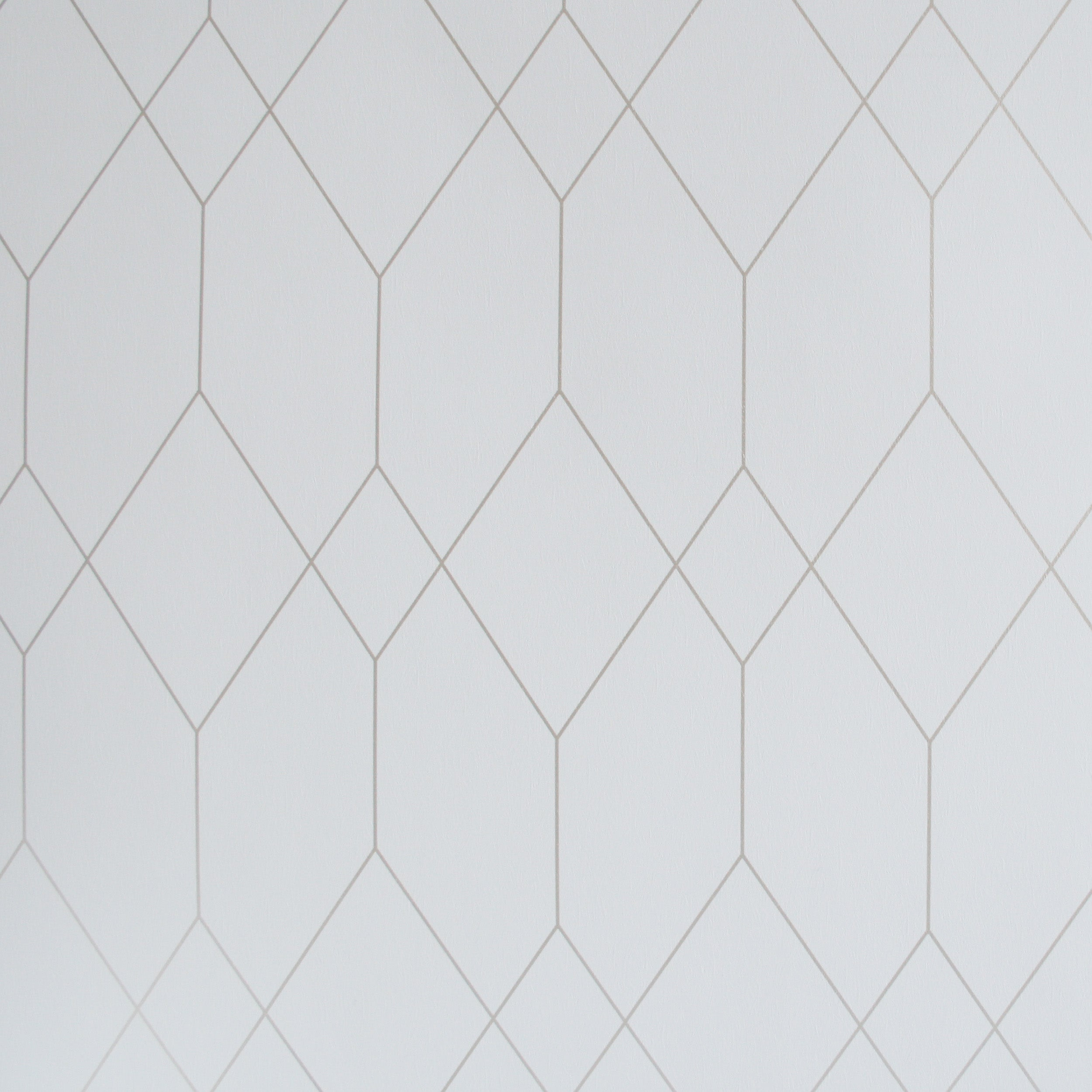 Polygon Geometric Designer Wallpaper In White Gold Your 4 Walls
