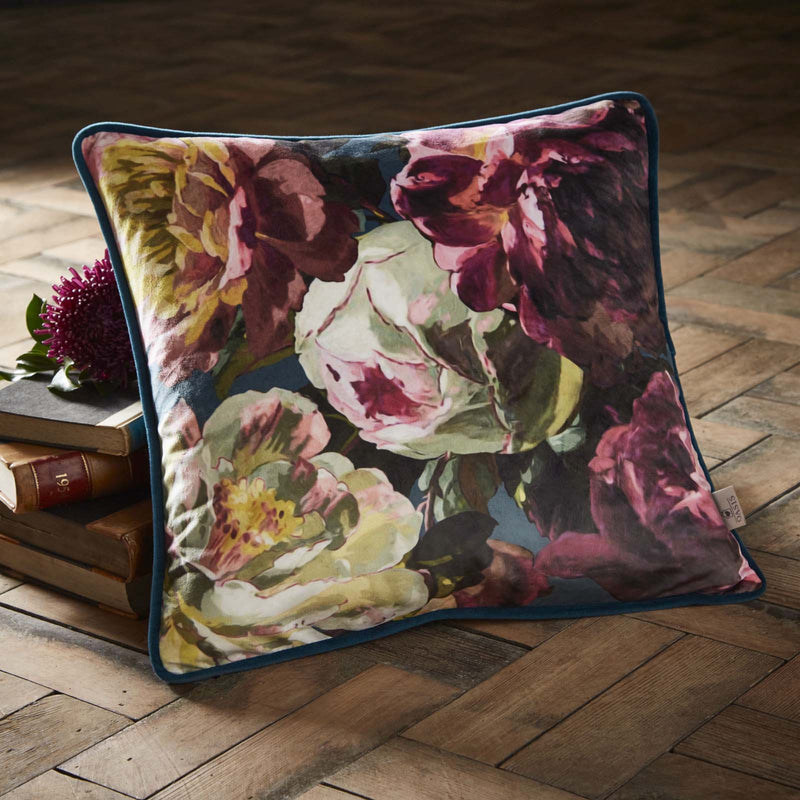 Oasis Designer 'Renaissance' Cushion | Deep Green, Magenta, Teal & Ivory - Your 4 Walls