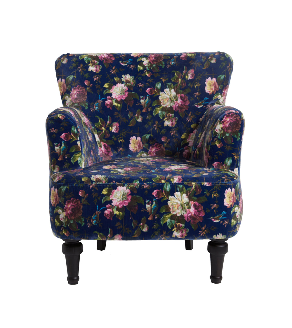 Oasis Dalston Renaissance Midnight Designer Accent Chair - Your 4 Walls