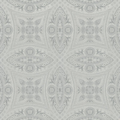 'Vintage' Geometric Wallpaper in Silver - Your 4 Walls