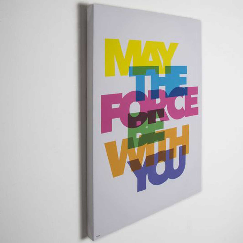 May The Force Be With You Text | Starwars Printed Canvas h:70cm  x w:50cm