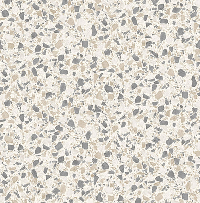 Terrazzo Effect Wallpaper | Grey, Beige & White