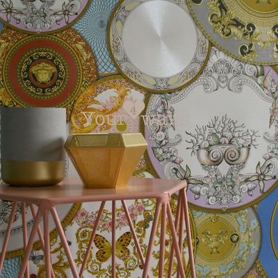 Versace China| Designer Motif Effect Wallpaper in Mixed Colours - Your 4 Walls