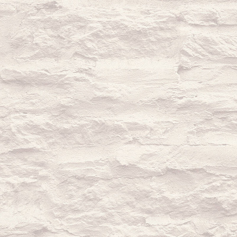 White Beige washed Stone Effect Wallpaper - Your 4 Walls