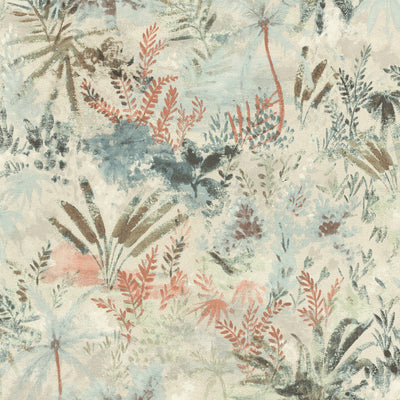 'Wild' Floral painted effect Wallpaper in Rust Autumn shades - Your 4 Walls