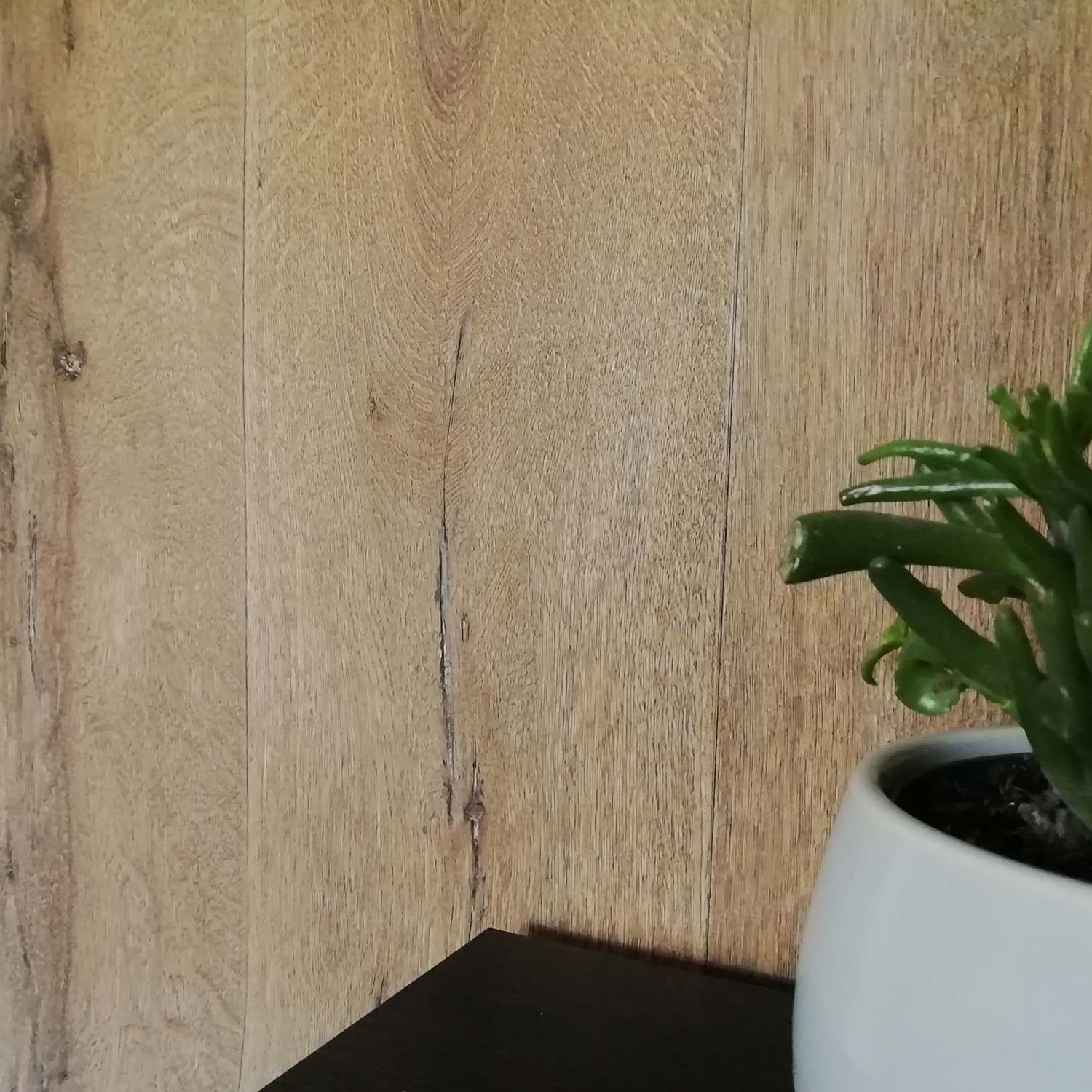 Realistic Wood Plank Effect Textured Wallpaper | Brown