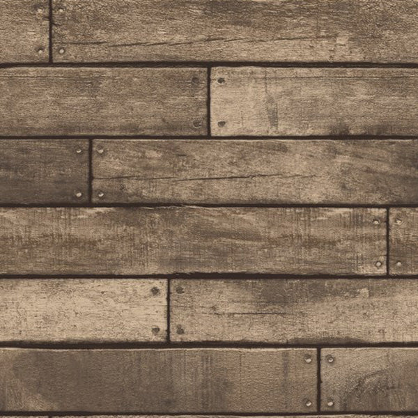 Wooden Planks Wood Panel Effect Faux Wallpaper