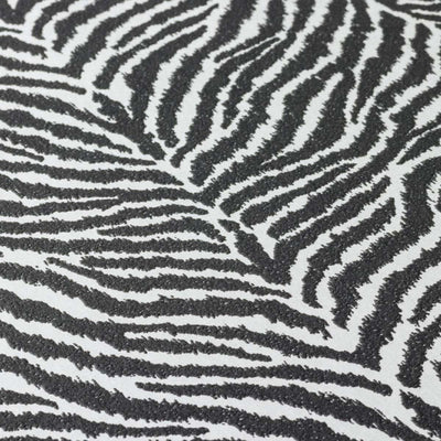 Zebra Skin Effect Wallpaper in Black and Silver - Your 4 Walls