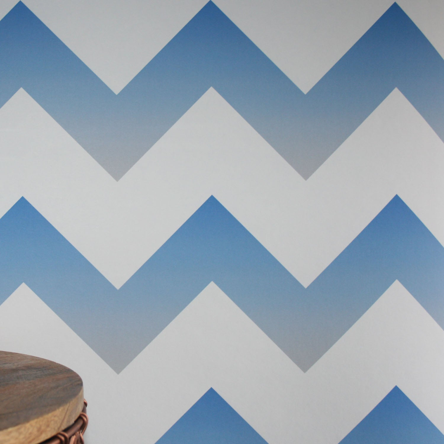 ... Ziggy |Geometric Ombre Zig Zag Wallpaper in Blue, ...