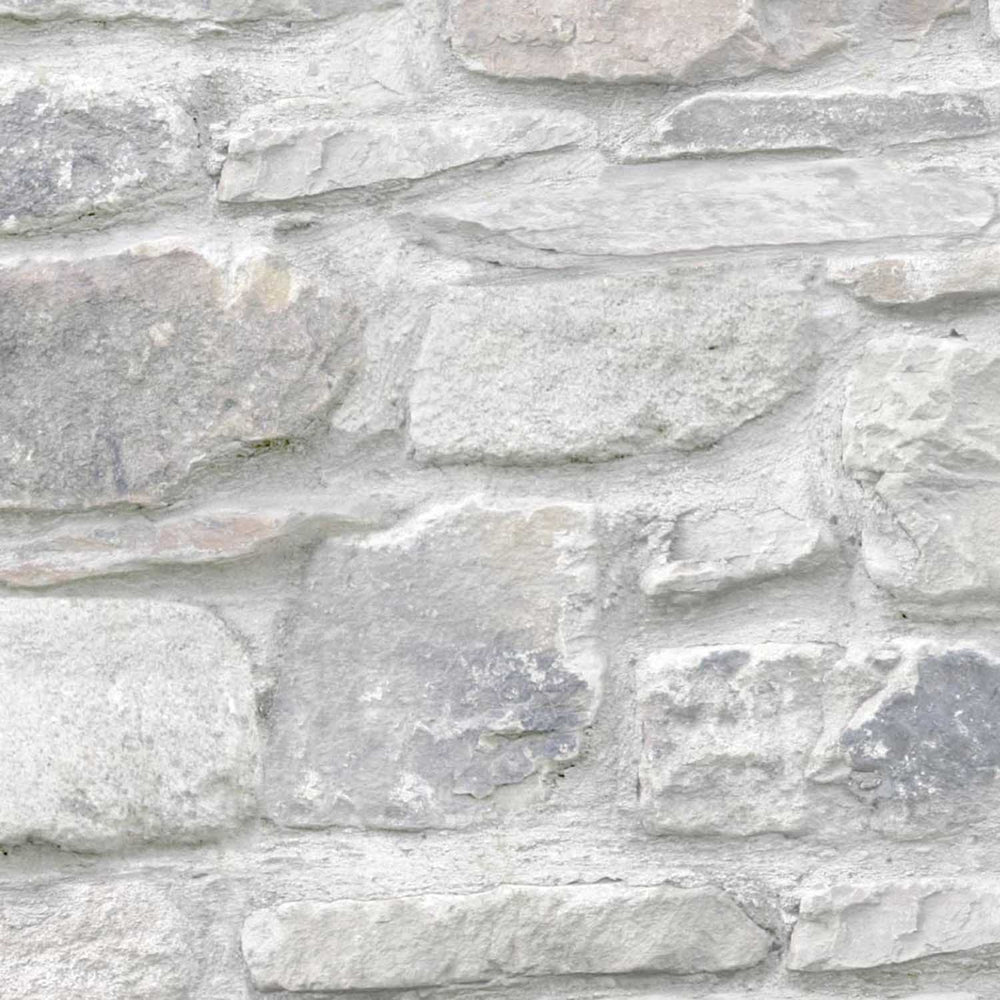 Coniston Brick Stone Effect Wallpaper | Grey/Mixed - Your 4 Walls