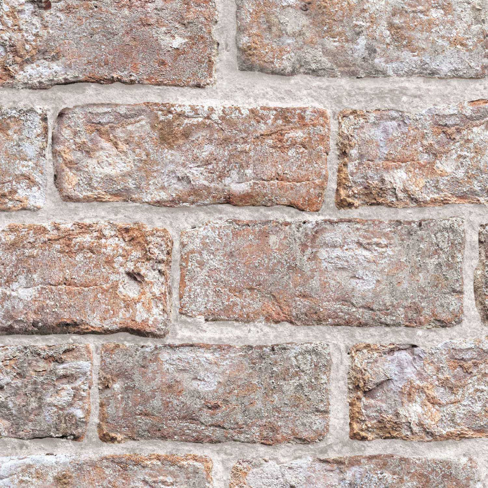 Dulas Brick Effect Wallpaper | Brown - Your 4 Walls
