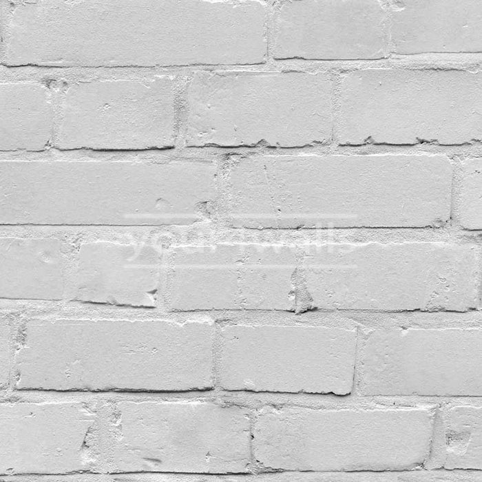 Loft Brick Effect Wallpaper | White/Grey