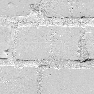 Loft Brick Effect Wallpaper | White/Grey - Your 4 Walls