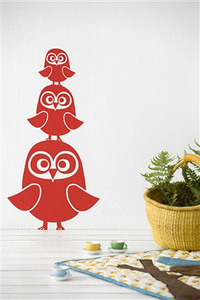 Owl Wall Sticker | Red
