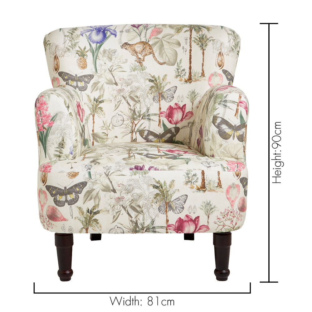 Dalston Designer Accent Chair – Botany Floral Summer & Cheetah Design - Your 4 Walls