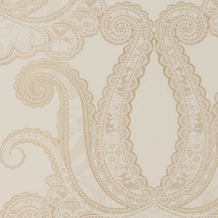 LAST ROLL Yolande Damask Designer Wallpaper | Gold