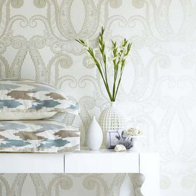 LAST ROLL Yolande Damask Designer Wallpaper | Gold - Your 4 Walls