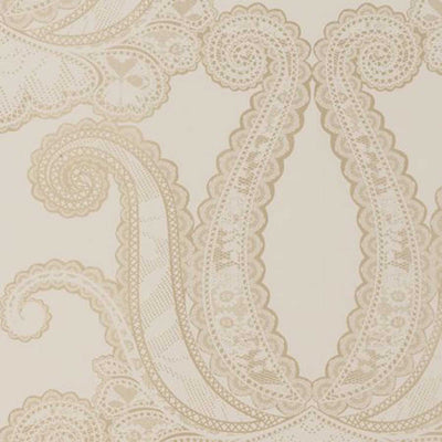 Last Roll Yolande Designer Wallpaper in Metallic Gold and Off White - Your 4 Walls