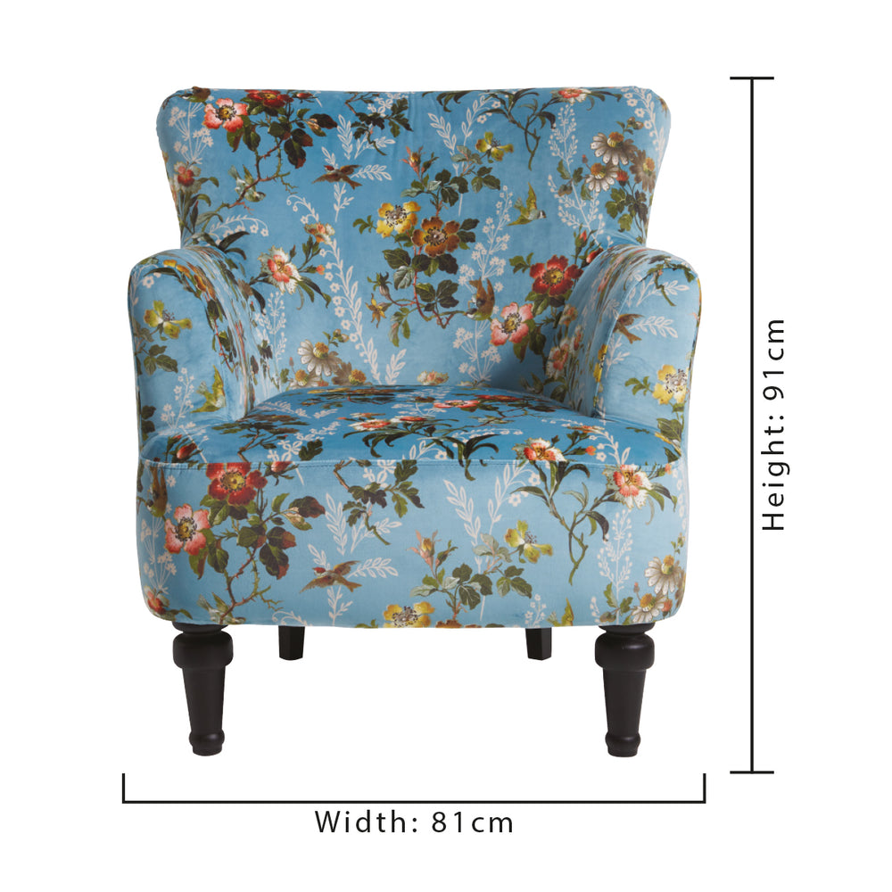 Oasis Dalston Leighton Blue Designer Accent Chair Your 4