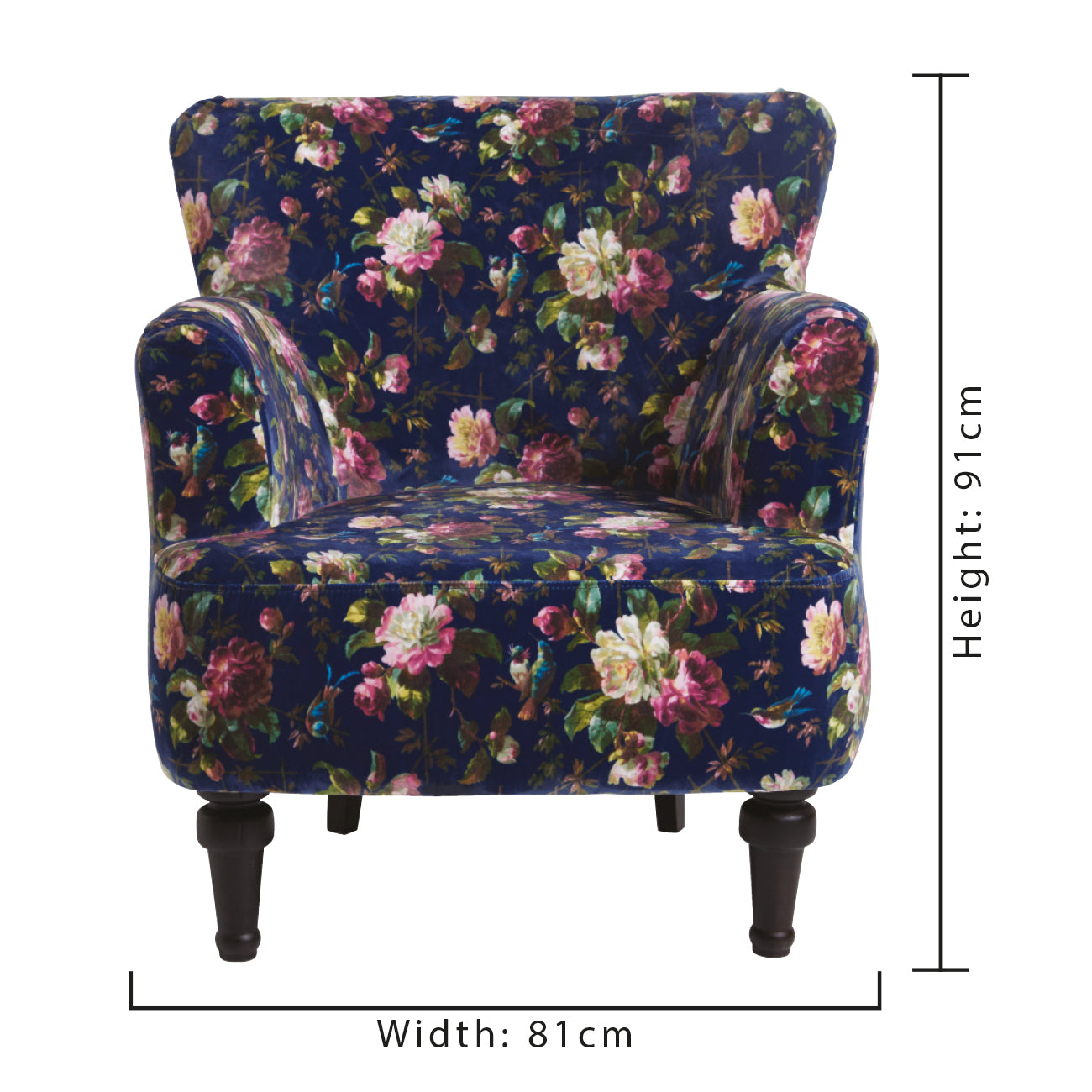 Oasis Dalston Renaissance Midnight Designer Accent Chair