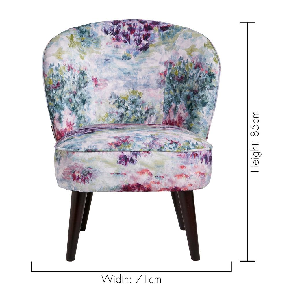 Ascot Floral Designer Accent Chair in Amethyst Purple - Your 4 Walls
